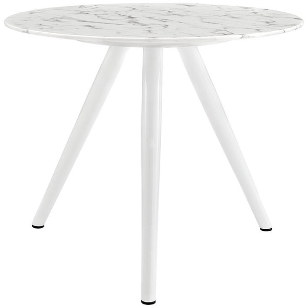"Tulip Style Tripod Base 36"" Artificial Marble Dining Table - living-essentials"