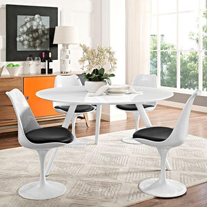Tulip Style 54 White Wood Dining Table With Tripod Base Free Shipping