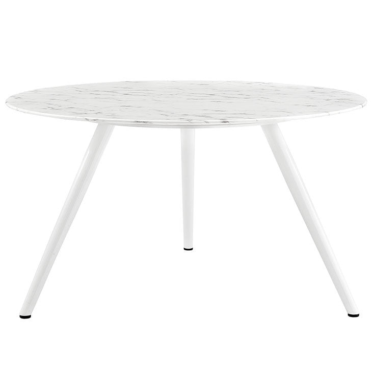 "Tulip Style 54"" Marble Dining Table With Tripod Base - living-essentials"