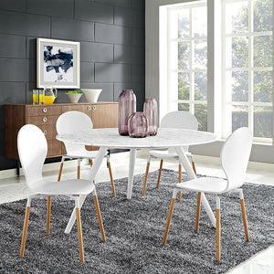 Tulip Style 54 Marble Dining Table With Tripod Base Free Shipping
