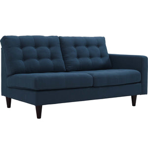 Emmy Right-Facing Upholstered Fabric Loveseat Azure Loveseats Free Shipping