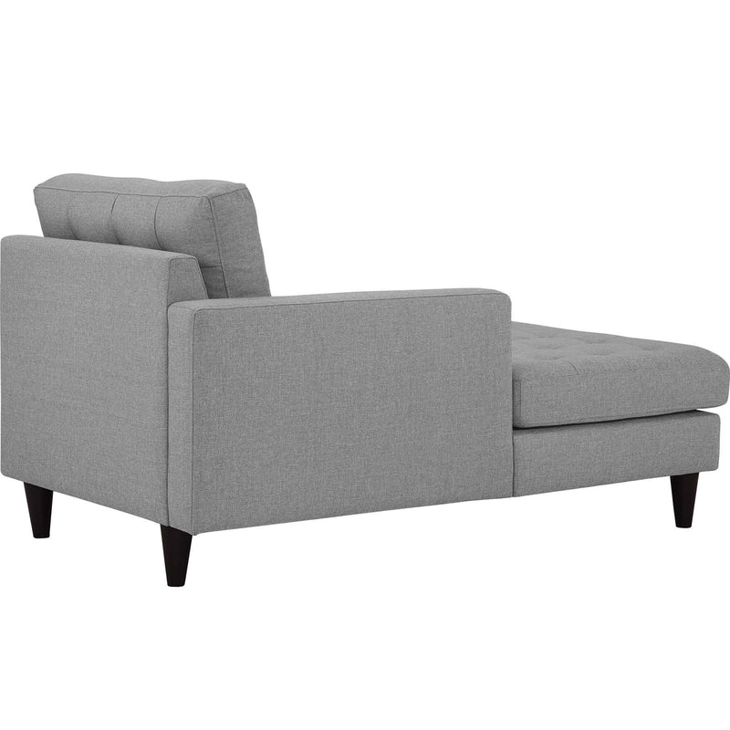 Emmy Left-arm Upholstered Fabric Chaise - living-essentials
