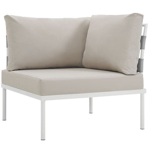 Peace Outdoor Patio Aluminum Corner Sofa White Beige Sofas Free Shipping