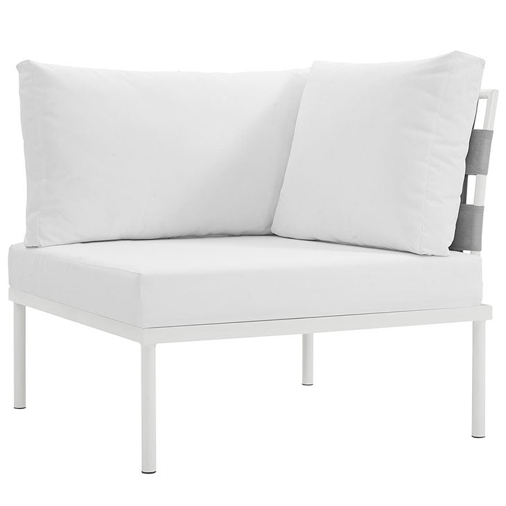Peace Outdoor Patio Aluminum Corner Sofa - living-essentials