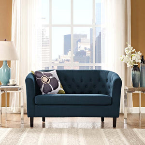 Derbyshire Upholstered Fabric Loveseat Loveseats Free Shipping