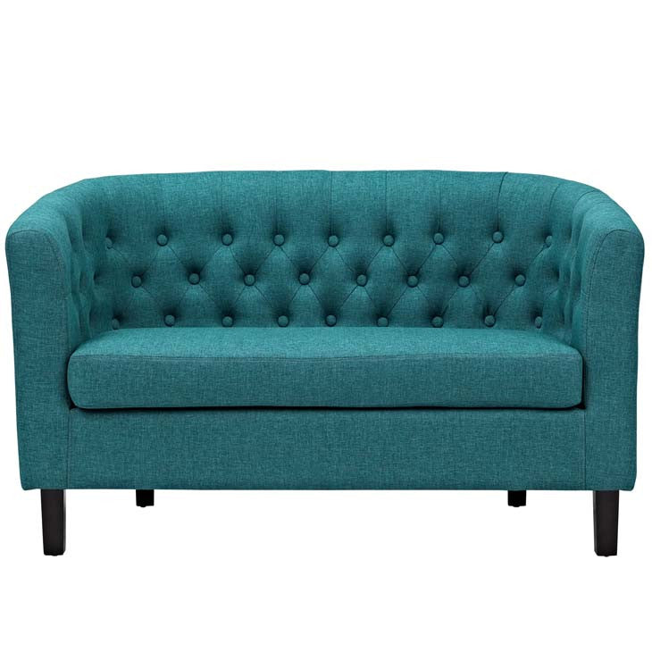 Derbyshire Upholstered Fabric Loveseat - living-essentials