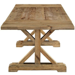 Parker Plain Industrial Style Brown Wood Dining Table Free Shipping
