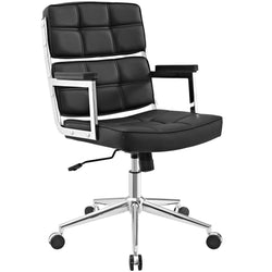 Prescott High-back Upholstered Vinyl Office Chair - living-essentials