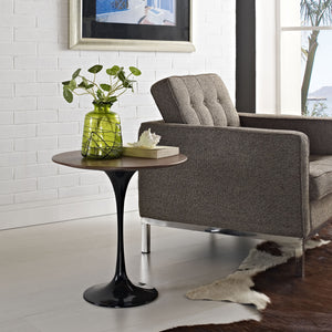 "Tulip Style 20"" Black Base Wood Side Table - living-essentials"