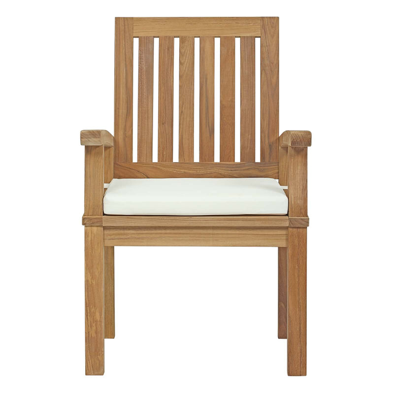 Macayla Outdoor Patio Teak Dining Chair - living-essentials