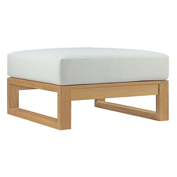Unity Outdoor Patio Teak Ottoman - living-essentials