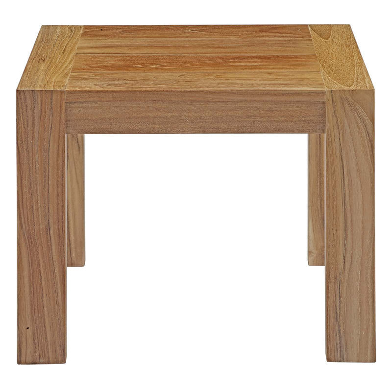 Unity Outdoor Patio Wood Side Table - living-essentials