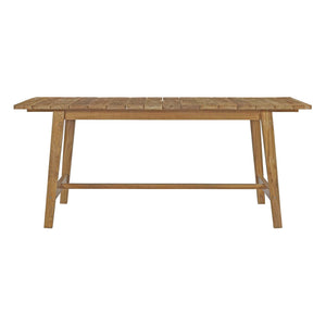 "Dondre 72"" Outdoor Patio Teak Dining Table - living-essentials"