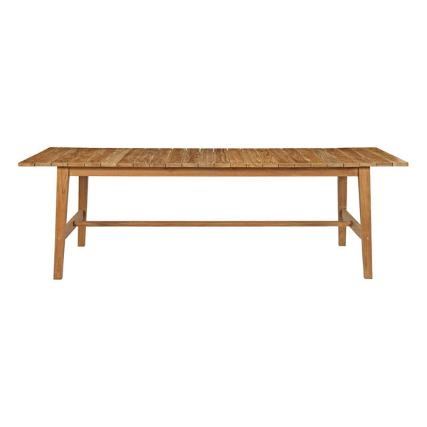 "Dondre 98.5"" Outdoor Patio Teak Dining Table - living-essentials"