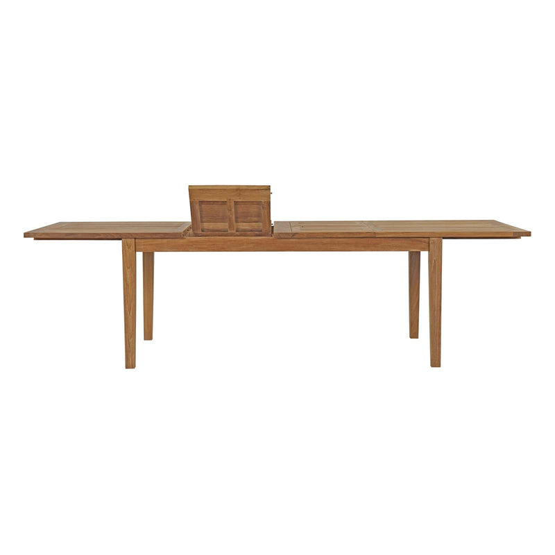 "Macy 108.5"" Outdoor Patio Teak Dining Table - living-essentials"