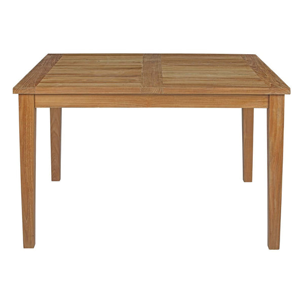 "Macayla 48.5"" Outdoor Patio Teak Dining Table - living-essentials"
