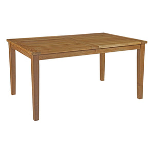 "Macayla 60"" Outdoor Patio Teak Dining Table - living-essentials"