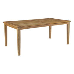 "Macayla 72"" Outdoor Patio Teak Dining Table - living-essentials"
