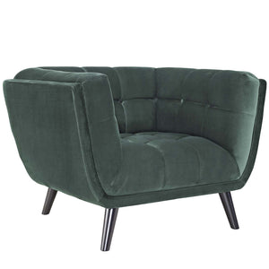 Brook Velvet Armchair Green Lounge Chair Free Shipping