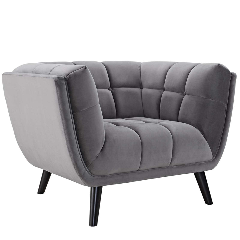 Brook Velvet Armchair - living-essentials