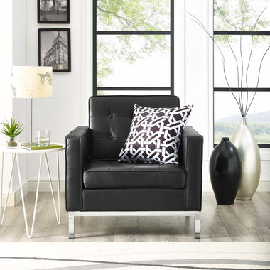 florence knoll style leather armchair - Mad Men Sofa
