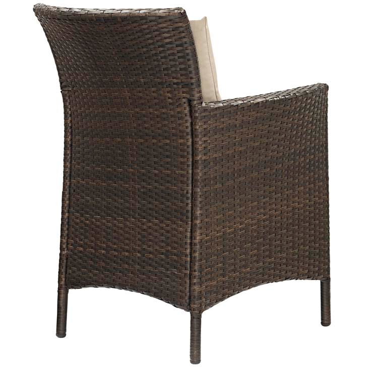 Conduit Outdoor Patio Wicker Rattan Dining Armchair - living-essentials