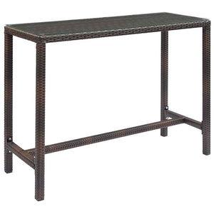 Conduit Outdoor Patio Wicker Rattan Large Bar Table - living-essentials