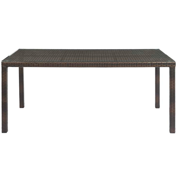 "Conduit 70"" Outdoor Patio Wicker Rattan Dining Table - living-essentials"
