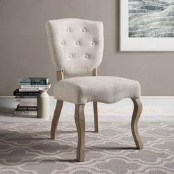 Ariston Vintage French Upholstered Dining Side Chair - living-essentials
