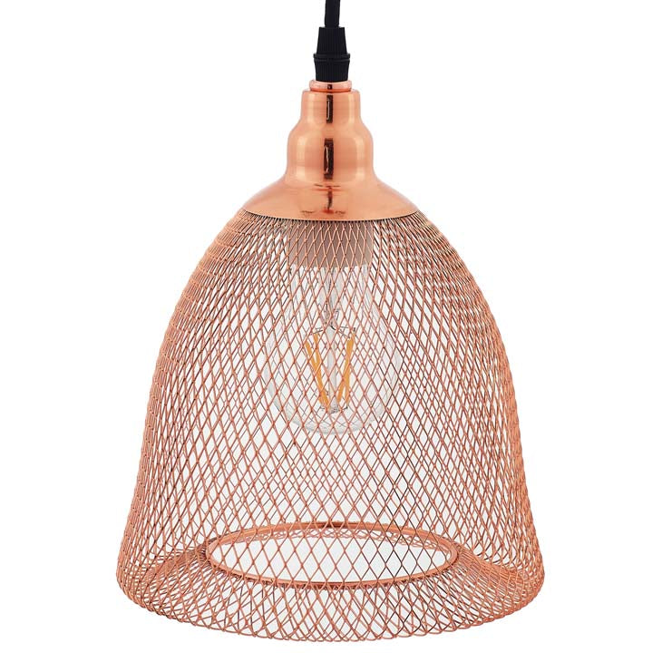 Glimmer Bell-Shaped Rose Gold Pendant Light - living-essentials