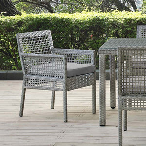 Audrey Outdoor Patio Wicker Rattan Dining Armchair