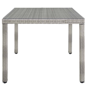 "Audrey 68"" Wicker Rattan Dining Table"
