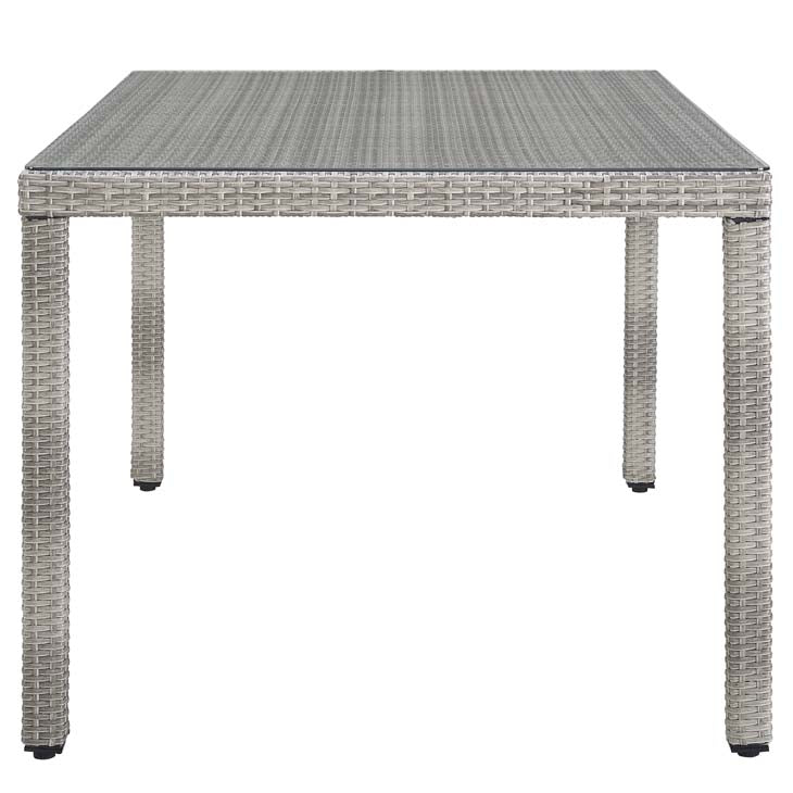 "Audrey 68"" Wicker Rattan Dining Table - living-essentials"