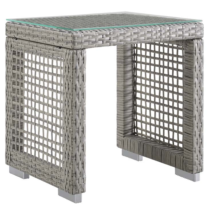 Audrey Outdoor Patio Wicker Rattan Side Table - living-essentials