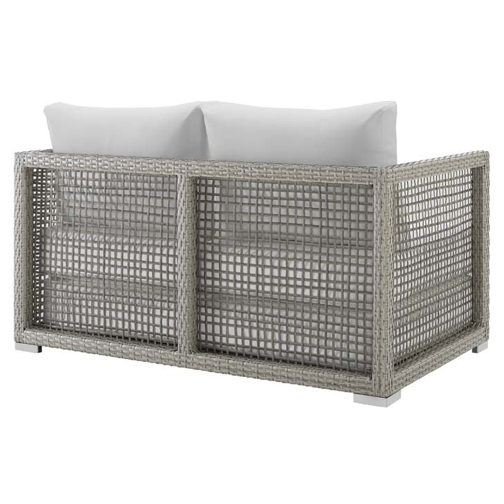 Audrey Outdoor Patio Wicker Rattan Loveseat - living-essentials