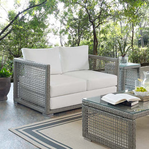Audrey Outdoor Patio Wicker Rattan Loveseat