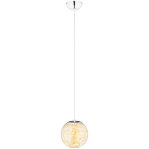 "Fairy 12"" Amber Glass Globe Ceiling Light Pendant Chandelier"