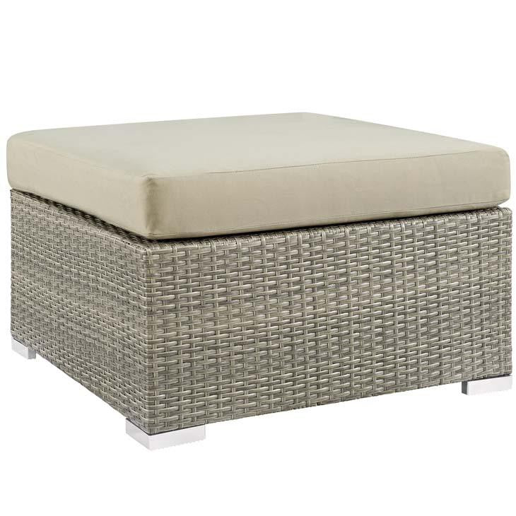 Render Sunbrella® Fabric Outdoor Patio Ottoman - living-essentials