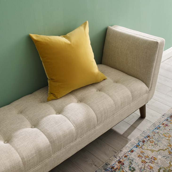 Heaven Tufted Button Upholstered Fabric Accent Bench - living-essentials
