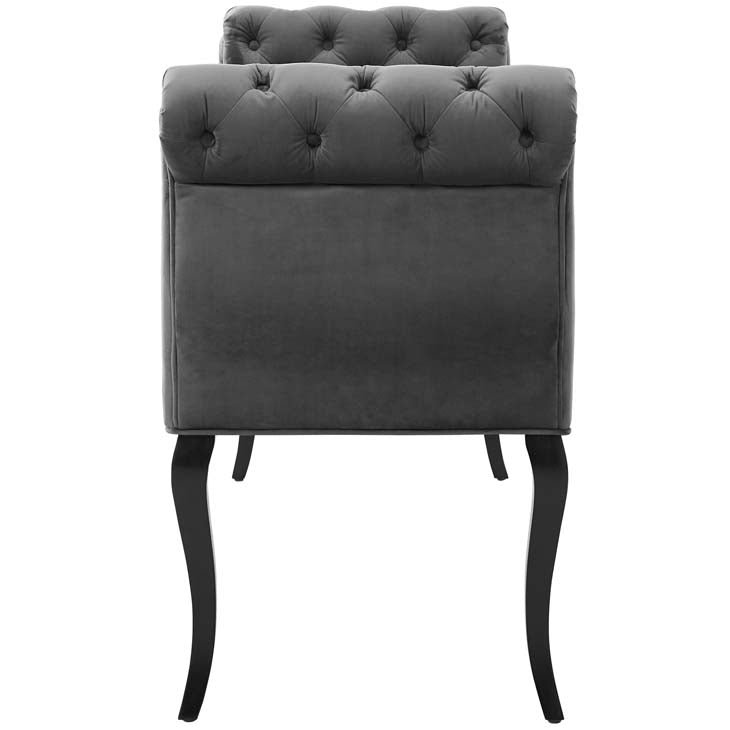 Adelia Chesterfield Style Button Tufted Performance Velvet Bench - living-essentials