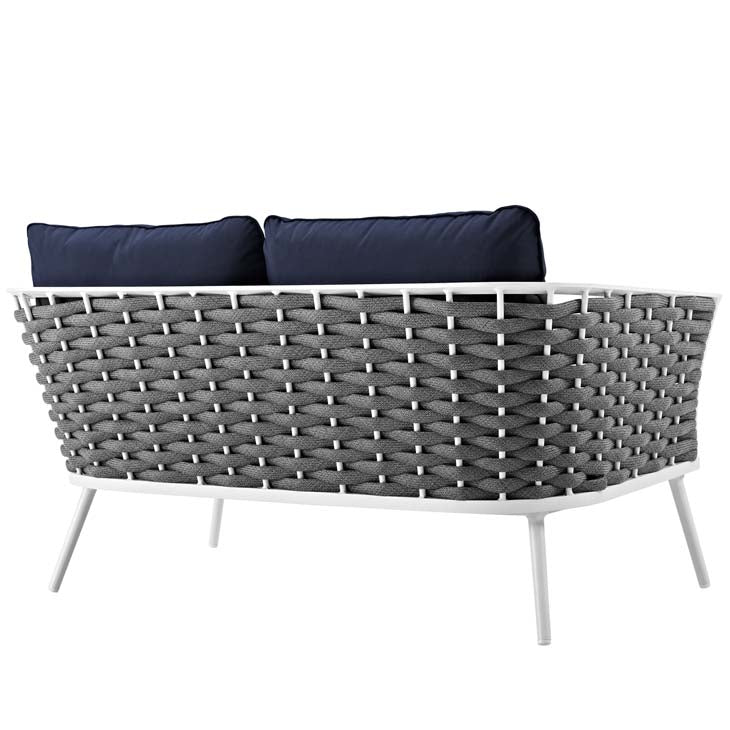 Standpoint Outdoor Patio Aluminum Loveseat - living-essentials