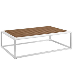 Standpoint Outdoor Patio Aluminum Coffee Table
