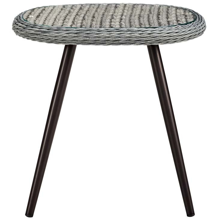 Endeavor Outdoor Patio Wicker Rattan Side Table - living-essentials