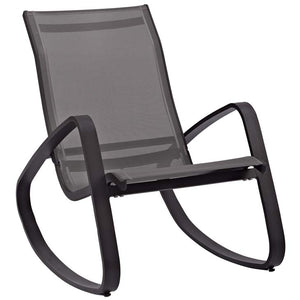 Traveler Rocking Outdoor Patio Mesh Sling Lounge Chair