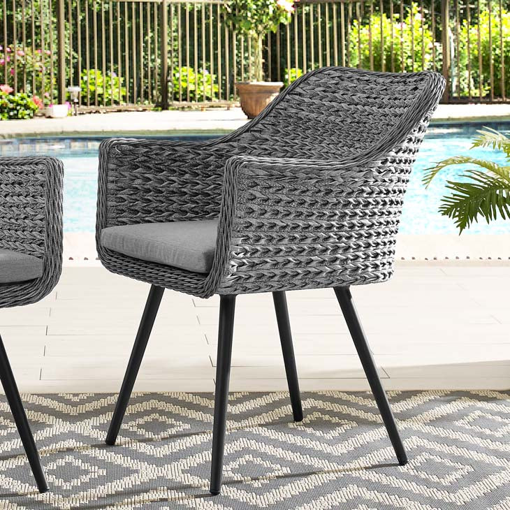 Endeavor Outdoor Patio Wicker Rattan Dining Armchair - living-essentials