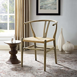 Weathered Grey Wishbone Dining Chair