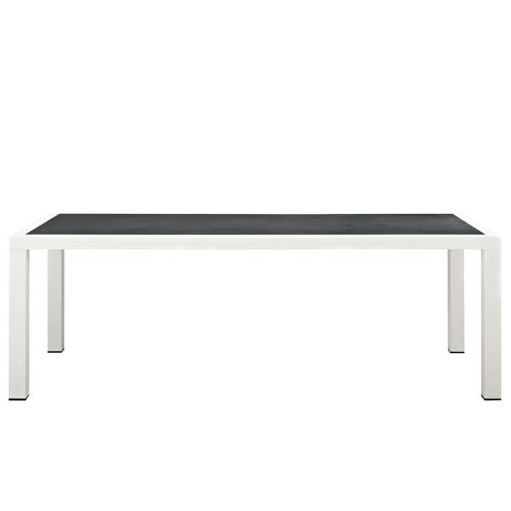 "Stance 90.5"" Outdoor Patio Aluminum Dining Table - living-essentials"