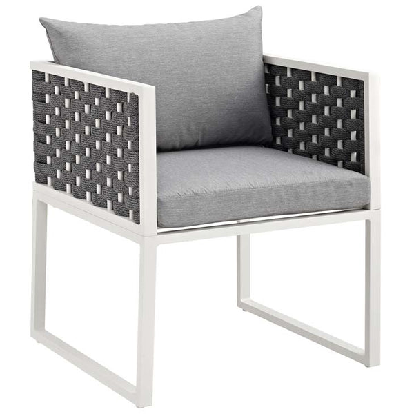 Standpoint Outdoor Patio Aluminum Dining Armchair - living-essentials