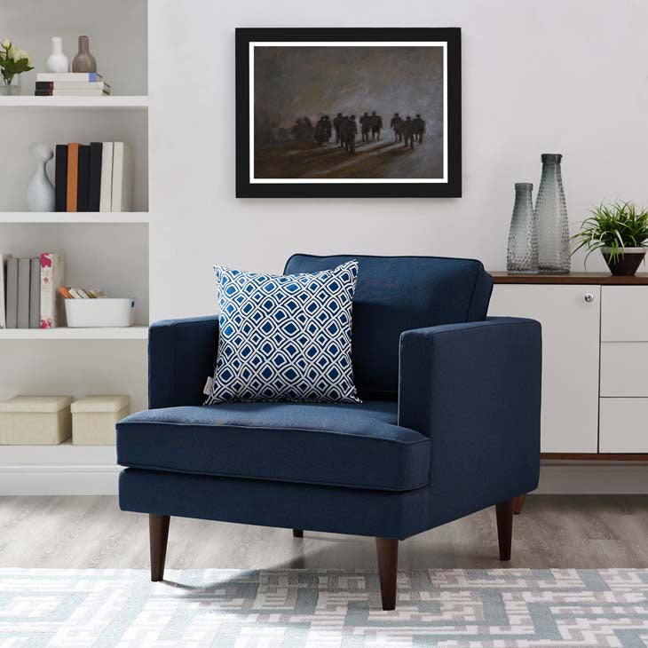 Agatha Upholstered Fabric Armchair - living-essentials