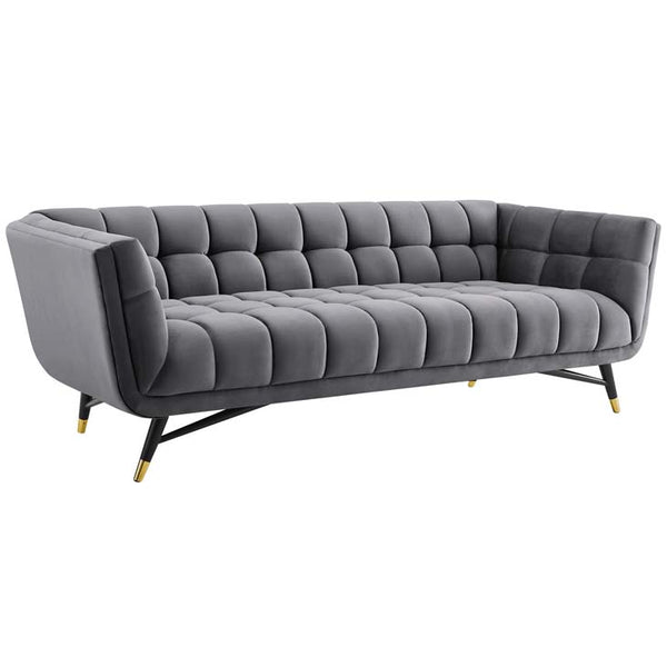 Adept Upholstered Velvet Sofa - living-essentials